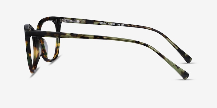 Sigilo Green Floral Acetate Eyeglass Frames from EyeBuyDirect, Side View