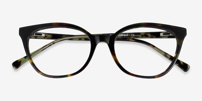 Sigilo Green Floral Acetate Eyeglass Frames from EyeBuyDirect, Closed View