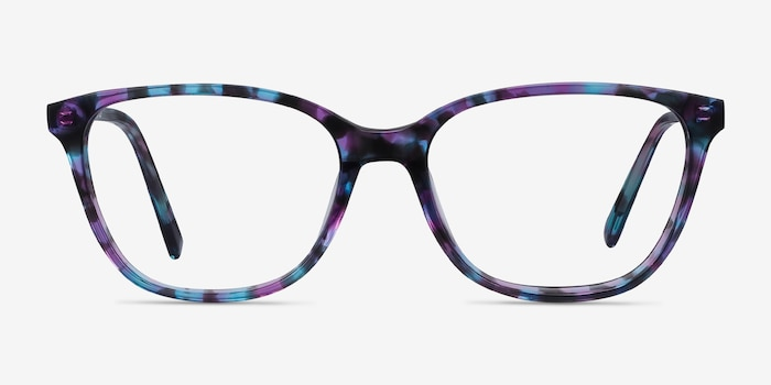 Arte Purple Tortoise Acetate Eyeglass Frames from EyeBuyDirect, Front View