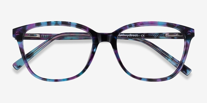 Arte Purple Tortoise Acetate Eyeglass Frames from EyeBuyDirect, Closed View