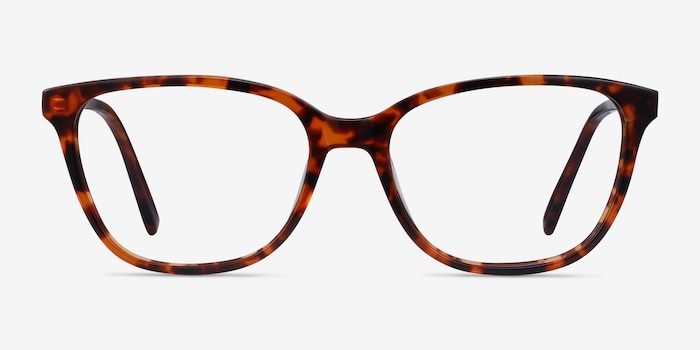 Arte Tortoise Acetate Eyeglass Frames from EyeBuyDirect, Front View