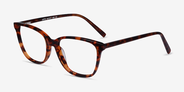 Arte Tortoise Acetate Eyeglass Frames from EyeBuyDirect, Angle View