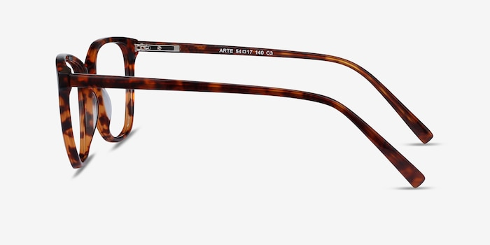 Arte Tortoise Acetate Eyeglass Frames from EyeBuyDirect, Side View