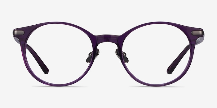 Buho Purple Acetate Eyeglass Frames from EyeBuyDirect, Front View