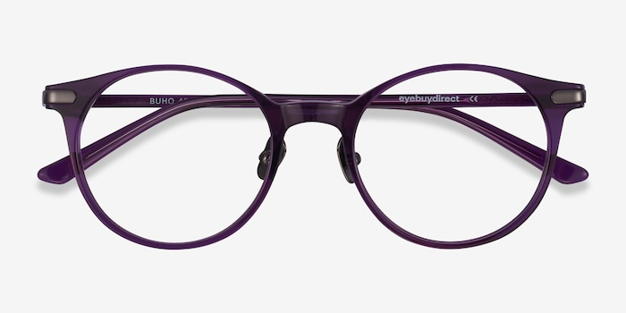 Buho Purple Acetate Eyeglass Frames from EyeBuyDirect, Closed View