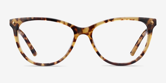 Leonie Tortoise Acetate Eyeglass Frames from EyeBuyDirect, Front View