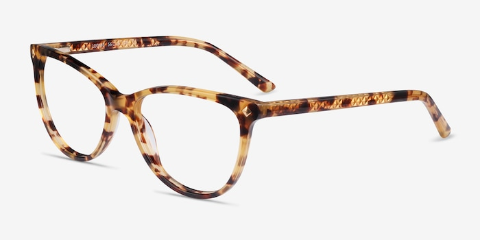 Leonie Tortoise Acetate Eyeglass Frames from EyeBuyDirect, Angle View