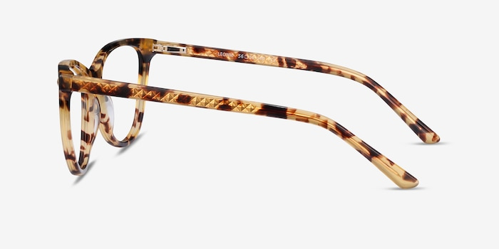 Leonie Tortoise Acetate Eyeglass Frames from EyeBuyDirect, Side View