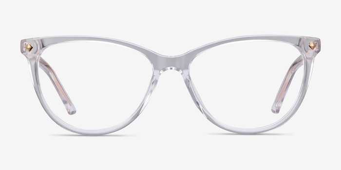 Leonie Clear Acetate Eyeglass Frames from EyeBuyDirect, Front View