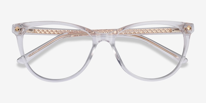 Leonie Clear Acetate Eyeglass Frames from EyeBuyDirect, Closed View