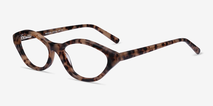 Passion Tortoise Acetate Eyeglass Frames from EyeBuyDirect, Angle View
