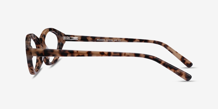 Passion Tortoise Acetate Eyeglass Frames from EyeBuyDirect, Side View