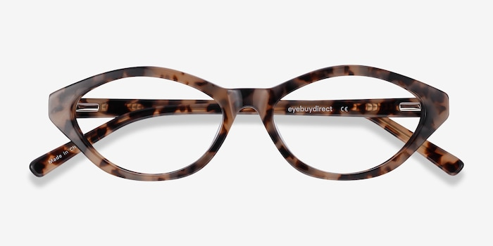 Passion Tortoise Acetate Eyeglass Frames from EyeBuyDirect, Closed View