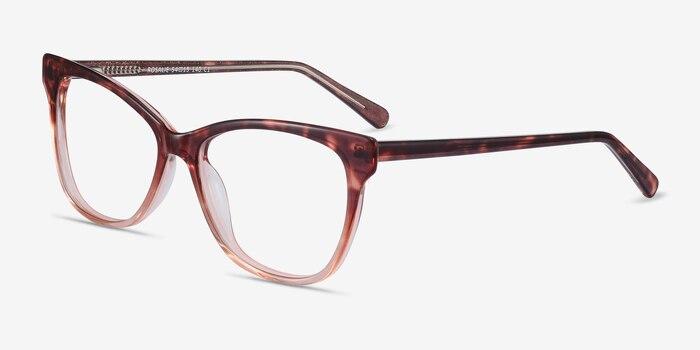 Rosalie Orange Acetate Eyeglass Frames from EyeBuyDirect, Angle View