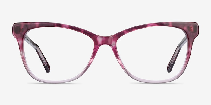Rosalie Pink Acetate Eyeglass Frames from EyeBuyDirect, Front View