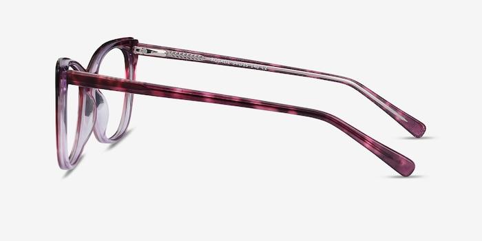Rosalie Pink Acetate Eyeglass Frames from EyeBuyDirect, Side View
