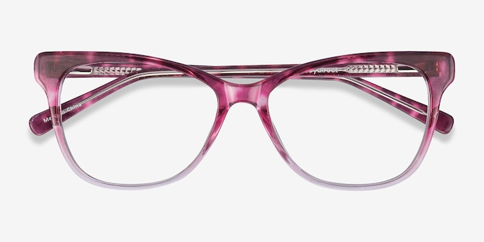 Rosalie Pink Acetate Eyeglass Frames from EyeBuyDirect, Closed View