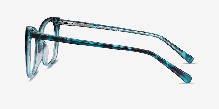 Rosalie Blue Acetate Eyeglass Frames from EyeBuyDirect, Side View