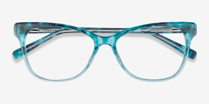 Rosalie Blue Acetate Eyeglass Frames from EyeBuyDirect, Closed View