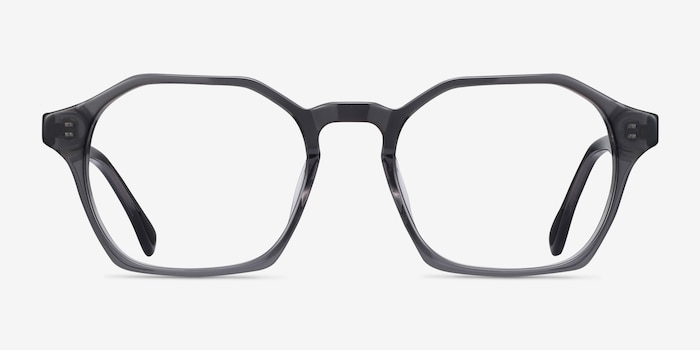 Orchid Gray Acetate Eyeglass Frames from EyeBuyDirect, Front View