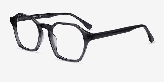 Orchid Gray Acetate Eyeglass Frames from EyeBuyDirect, Angle View