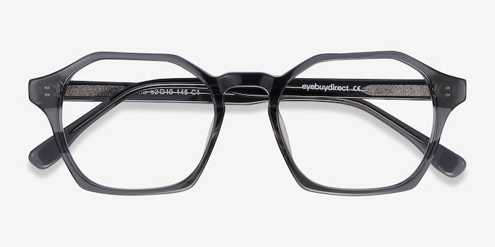 Orchid Gray Acetate Eyeglass Frames from EyeBuyDirect, Closed View