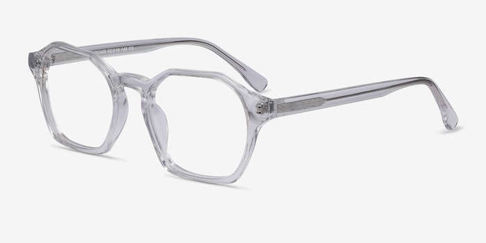 Orchid Clear Acetate Eyeglass Frames from EyeBuyDirect, Angle View