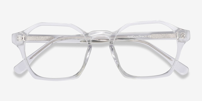 Orchid Clear Acetate Eyeglass Frames from EyeBuyDirect, Closed View