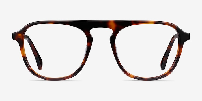 Ida Tortoise Acetate Eyeglass Frames from EyeBuyDirect, Front View
