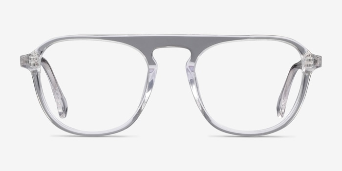 Ida Clear Acetate Eyeglass Frames from EyeBuyDirect, Front View