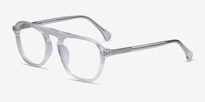 Ida Clear Acetate Eyeglass Frames from EyeBuyDirect, Angle View