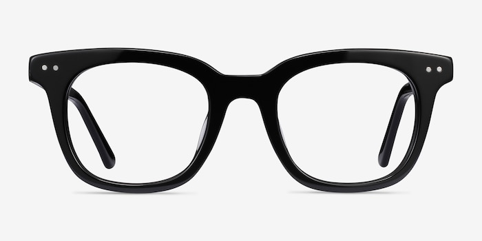 Romy Black Acetate Eyeglass Frames from EyeBuyDirect, Front View