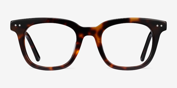 Romy Tortoise Acetate Eyeglass Frames from EyeBuyDirect, Front View