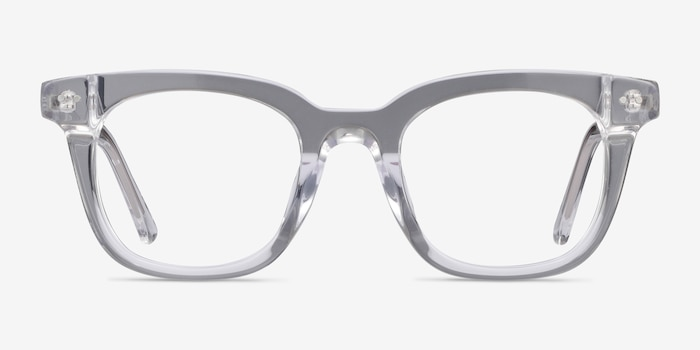 Romy Clear Acetate Eyeglass Frames from EyeBuyDirect, Front View