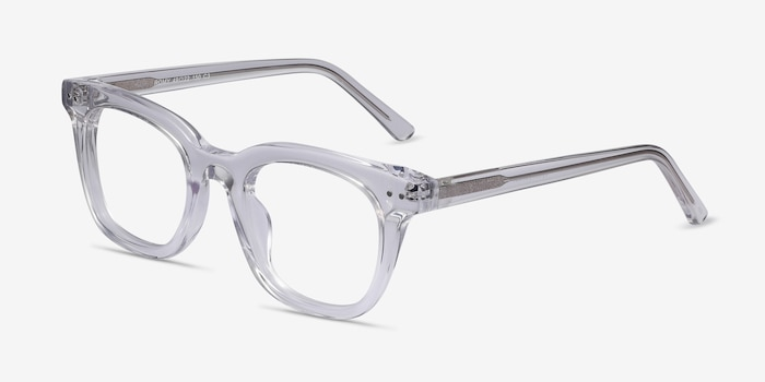 Romy Clear Acetate Eyeglass Frames from EyeBuyDirect, Angle View