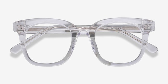 Romy Clear Acetate Eyeglass Frames from EyeBuyDirect, Closed View