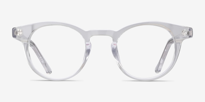 Flora Clear Acetate Eyeglass Frames from EyeBuyDirect, Front View