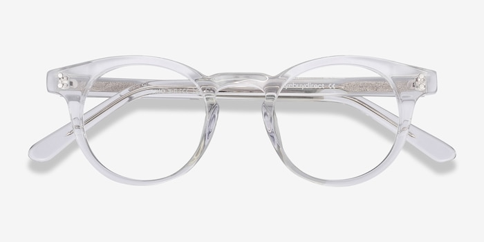 Flora Clear Acetate Eyeglass Frames from EyeBuyDirect, Closed View