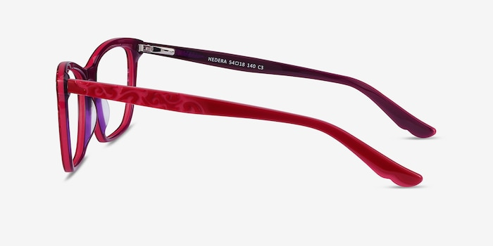 Hedera Raspberry Pink Acetate Eyeglass Frames from EyeBuyDirect, Side View