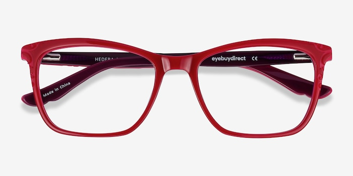 Hedera Raspberry Pink Acetate Eyeglass Frames from EyeBuyDirect, Closed View