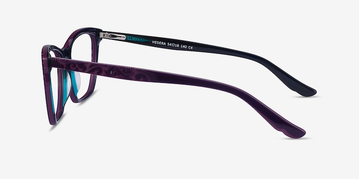 Hedera Purple Acetate Eyeglass Frames from EyeBuyDirect, Side View
