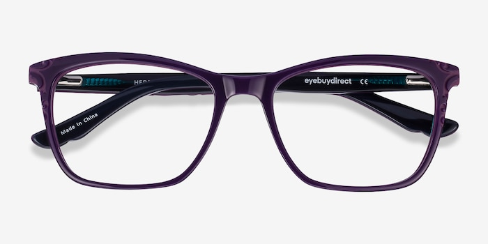 Hedera Purple Acetate Eyeglass Frames from EyeBuyDirect, Closed View