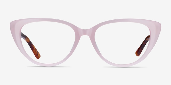 Anastasia Iridescent Pink & Tortoise Acetate Eyeglass Frames from EyeBuyDirect, Front View