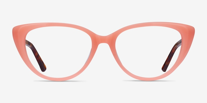 Anastasia Coral & Tortoise Acetate Eyeglass Frames from EyeBuyDirect, Front View