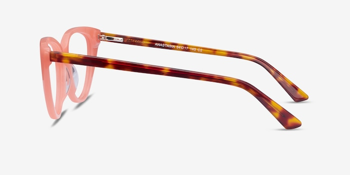 Anastasia Coral & Tortoise Acetate Eyeglass Frames from EyeBuyDirect, Side View
