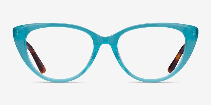 Anastasia Turquoise & Tortoise Acetate Eyeglass Frames from EyeBuyDirect, Front View