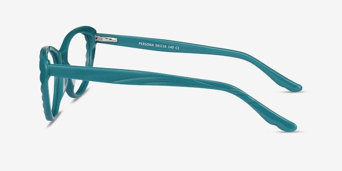 Persona Teal Acetate Eyeglass Frames from EyeBuyDirect, Side View