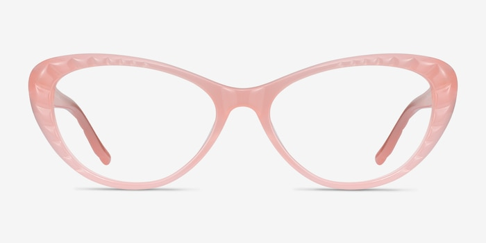 Persona Coral Acetate Eyeglass Frames from EyeBuyDirect, Front View