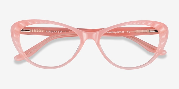 Persona Coral Acetate Eyeglass Frames from EyeBuyDirect, Closed View