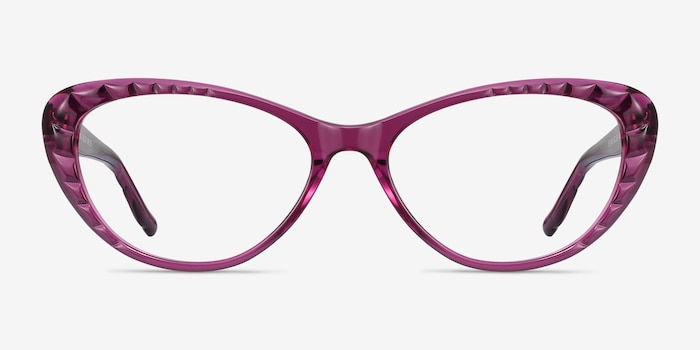 Persona Cassis Acetate Eyeglass Frames from EyeBuyDirect, Front View